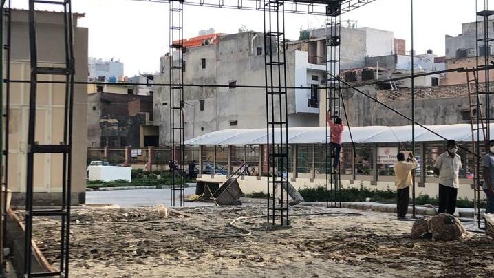 PSA Plant under construction in Burari