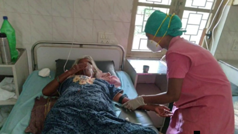 Patients receiving oxygen from the plant in a new ward at St Theresa's, Rajajinagar, Bangalore